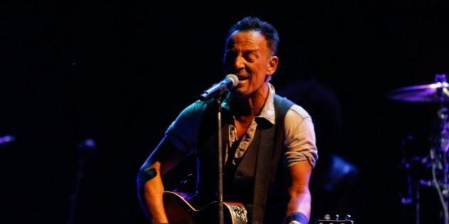 FOXBOROUGH, MA - SEPTEMBER 14: Musician Bruce Springsteen performs in concert at Gillette Stadium in...