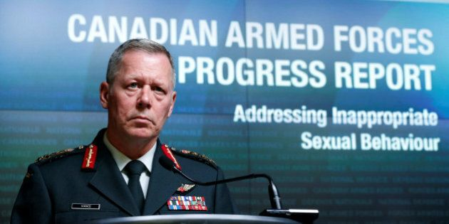 Canada's Chief of Defence Staff General Jonathan Vance takes part in a news conference upon the release...