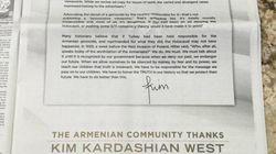 Pourquoi Kim Kardashian publie-t-elle cette lettre