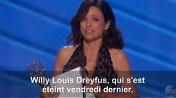 Julia Louis Dreyfus révèle la mort de son père à la fin de son discours