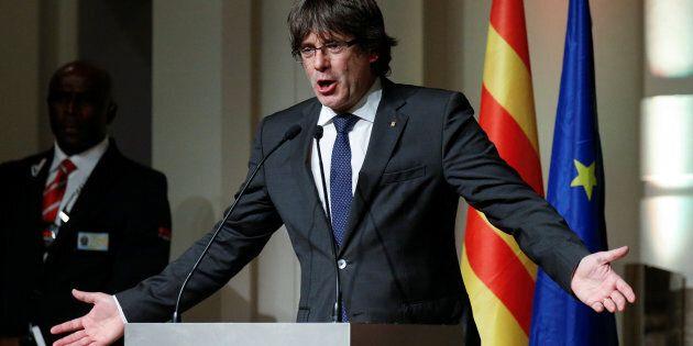 Le leader catalan promet de poursuivre la lutte et réclame l'aide de