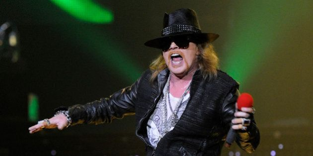 LAS VEGAS, NV - DECEMBER 30:  Singer Axl Rose of Guns N' Roses performs at The Joint inside the Hard Rock Hotel & Casino December 30, 2011 in Las Vegas, Nevada.  (Photo by Ethan Miller/Getty Images)