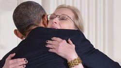 Barack Obama fait une déclaration d'amour à Meryl Streep lors d'une