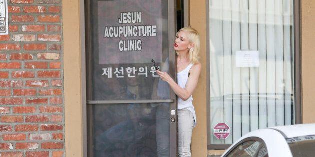 LOS ANGELES, CA - MARCH 16: Gwen Stefani is seen in Los Angeles on March 16, 2015 in Los Angeles, California....