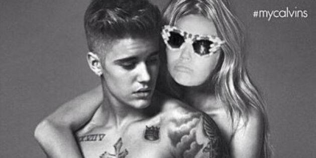 Justin Bieber pose en boxer pour Calvin Klein... et Miley Cyrus aime ça!