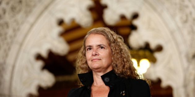 Former astronaut Julie Payette takes part in a news conference announcing her appointment as Canada's next governor general, in the Senate foyer on Parliament Hill in Ottawa, Ontario, Canada, July 13, 2017. REUTERS/Chris Wattie