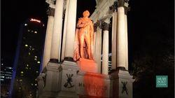 La statue de John A. MacDonald vandalisée au centre-ville de