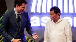 Trudeau a parlé des droits de l'homme à Duterte qui se dit