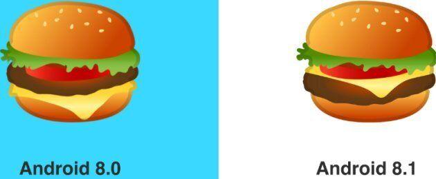 Google a modifié son emoji burger et tout le monde est