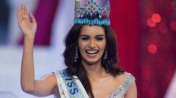 Une Indienne couronnée Miss