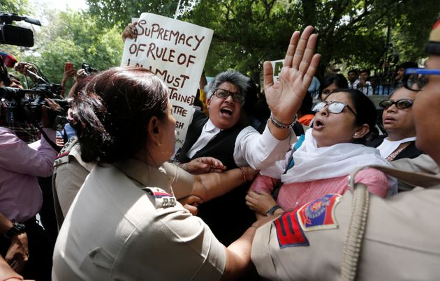 CJI Clean Chit: Over 50 Women Detained Under Section 144 For