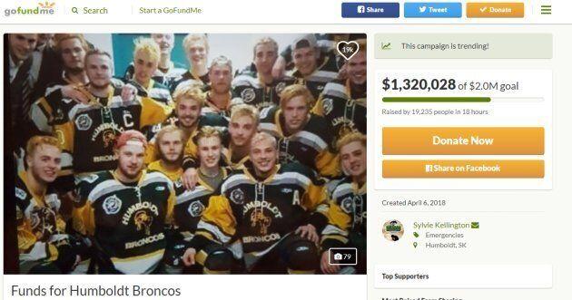 Les Canadiens amassent des millions pour les victimes de l'accident des Broncos de