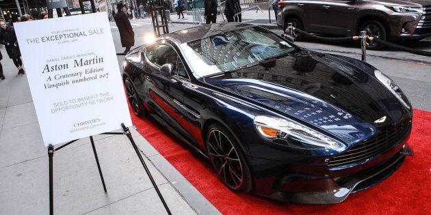 Près d'un demi-million $ pour l'Aston Martin de Daniel