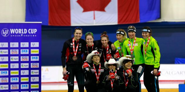 Le Canada remporte la médaille de bronze en poursuite par équipe chez les