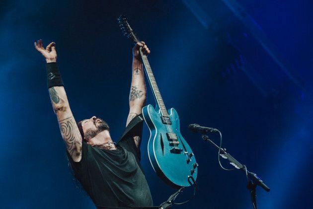 Les Foo Fighters étaient visiblement heureux d'être de retour à Québec.