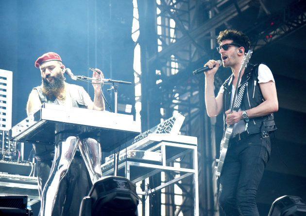 Patrick Gemayel et David Macklovitch de Chromeo jouaient tout juste avant «The Weeknd» au Festival d'été de Québec.