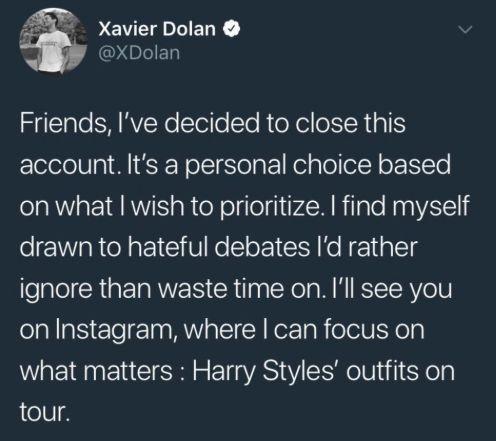 Xavier Dolan ferme son compte