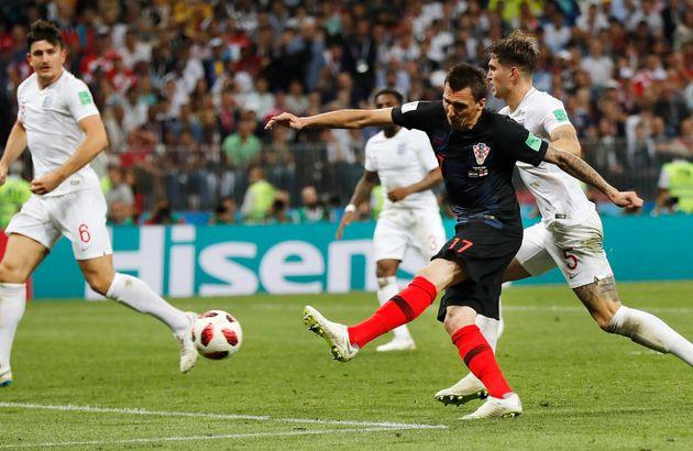 Le Croate Mario Mandzukic a sonné le glas de l'Angleterre avec un but en temps