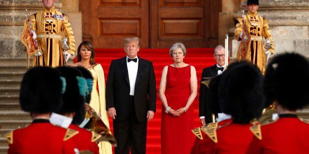 Melania Trump, Donald Trump, Theresa May et son époux