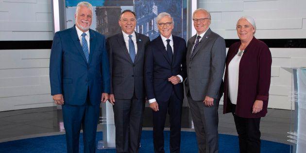 Les quatre chefs en compagnie de Pierre