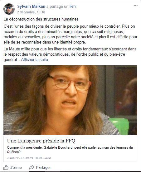 «Je ne céderai pas à La Meute et à la haine», dit Gabrielle Bouchard, nouvelle présidente de la Fédération...