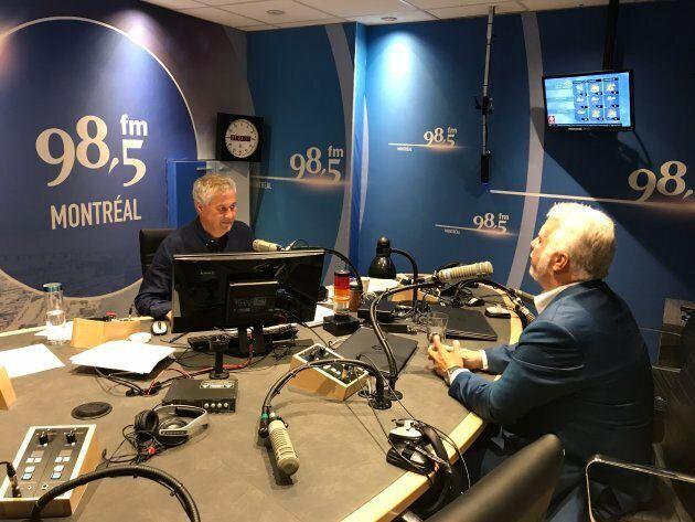 Philippe Couillard en entrevue avec Paul Arcand, vendredi