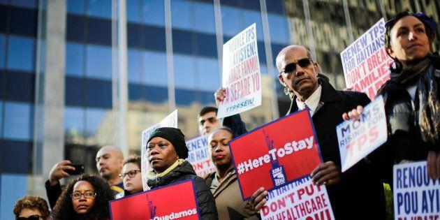 Une manifestation contre la déportation avait eu lieu à Manhattan le 27 novembre