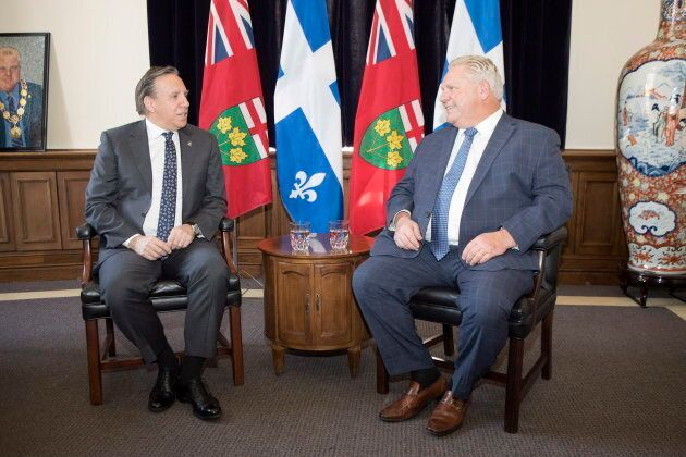 Les premiers ministres François Legault et Doug Ford se rencontrent à