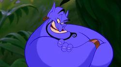 Le Génie de «Aladdin» ne ressemble plus à ça et la toile n'est pas
