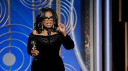 Oprah Winfrey livre un puissant discours aux Golden