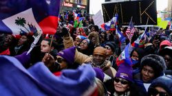 Des centaines d'Haïtiens-Américains manifestent à Times Square contre le