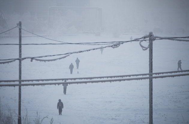 Des résidents de la ville de Yakoutsk, 16 janvier