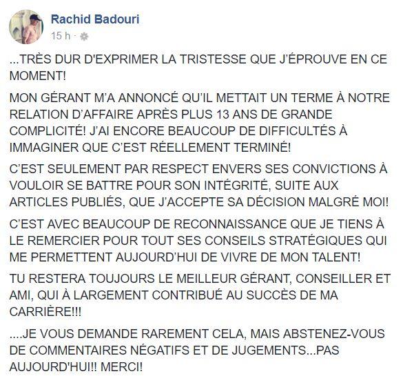 Impliqué dans une sombre affaire, le gérant de Rachid Badouri quitte son