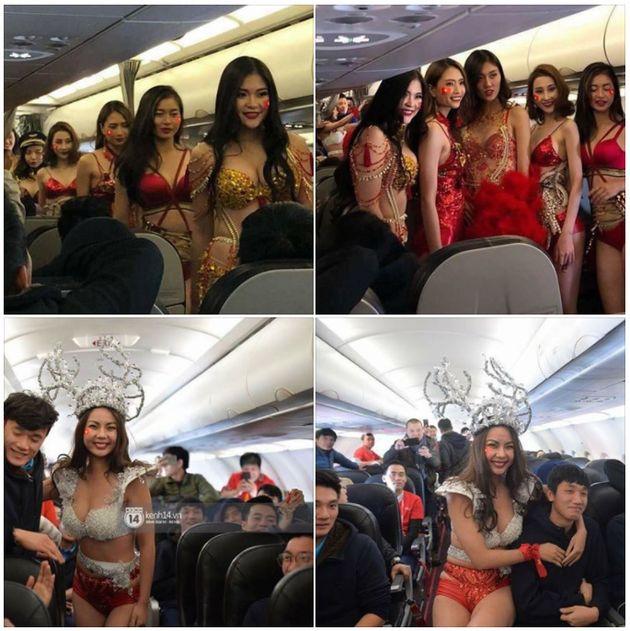 Un défilé de bikini dans un avion fait scandale au