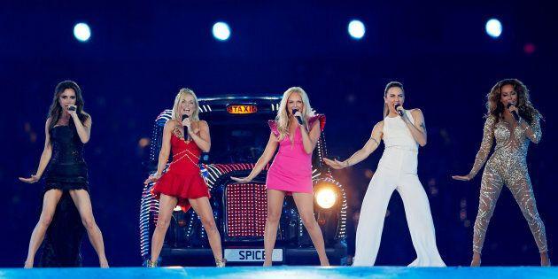 Les Spice Girls lors de la cérémonie de clôture des Jeux olympiques de Londres en