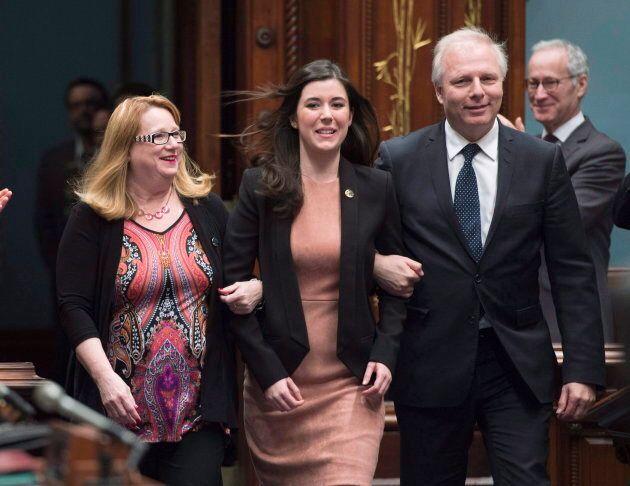 Catherine Fournier (au centre) est née en
