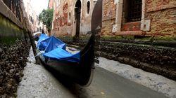 Les célèbres canaux de Venise sont asséchés (et la «super lune» n'y est pas pour