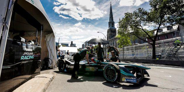 Une voiture de Formule E lors du ePrix de