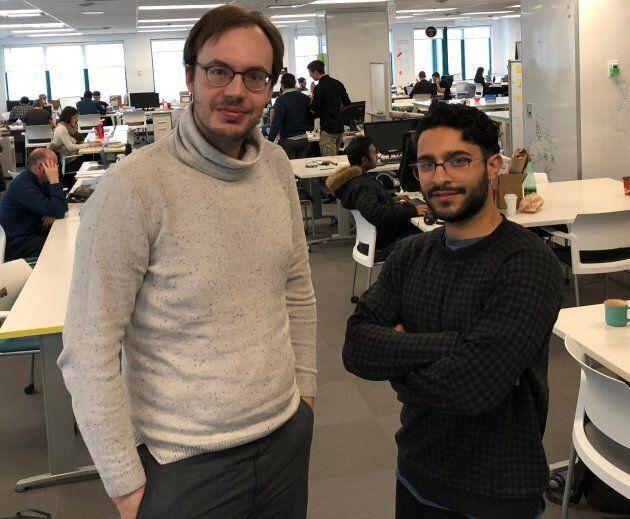Julien Brault et Yazzan Khayyat, cofondateurs de
