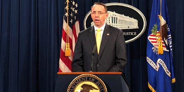 Le numéro deux du ministère américain de la Justice, Rod