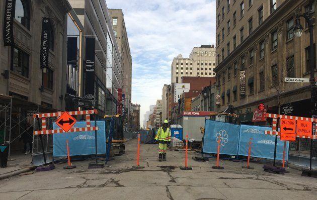 La rue Sainte-Catherine, actuellement.
