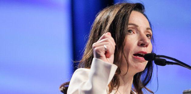 Martine Ouellet est chef du Bloc depuis moins d'un