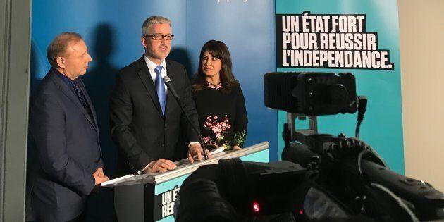 Jean-François Lisée, Jean-Martin Aussant et Véronique