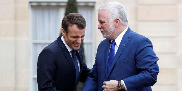 Philippe Couillard a rencontré Emmanuel Macron à