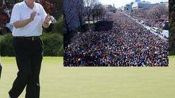 Marche pour le contrôle des armes: Donald Trump joue au golf et la NRA se moque d'un