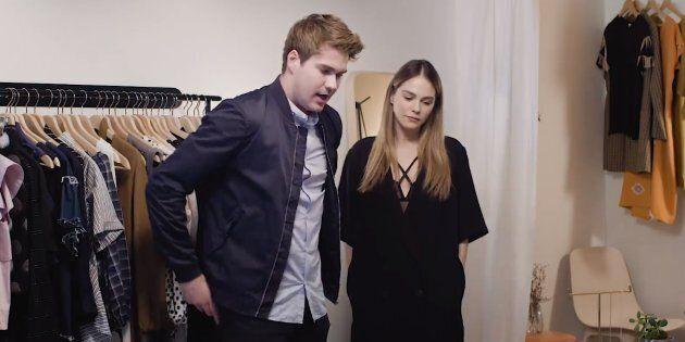 Maripier Morin recyclée en vendeuse de lingerie pour un clip de Julien