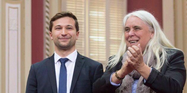 Gabriel Nadeau-Dubois et Manon Massé, de Québec Solidaire, en juin