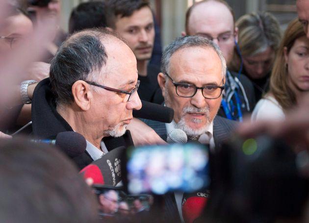 Boufeldja Benabdallah et Mohamed Labidi du Centre culturel islamique de Québec ont réagi après le plaidoyer...
