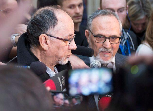 Boufeldja Benabdallah et Mohamed Labidi ont rencontré la presse après le plaidoyer d'Alexandre