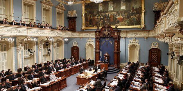 Photo d'archives du Salon bleu de l'Assemblée